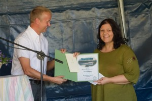 """3. Preis beim Kulturwettbewerb """"Rund um den Woezer See"""" 2013"""