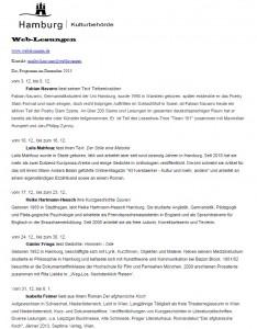 Weblesungen Dezember 2013